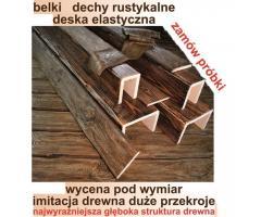 BELKI RUSTYKALNE Na Wymiar STARE DREWNO deska elastyczna na elewacje Darmowe PRÓBKI
