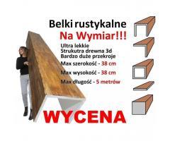 Imitacja belek na wymiar - imitacja drewna