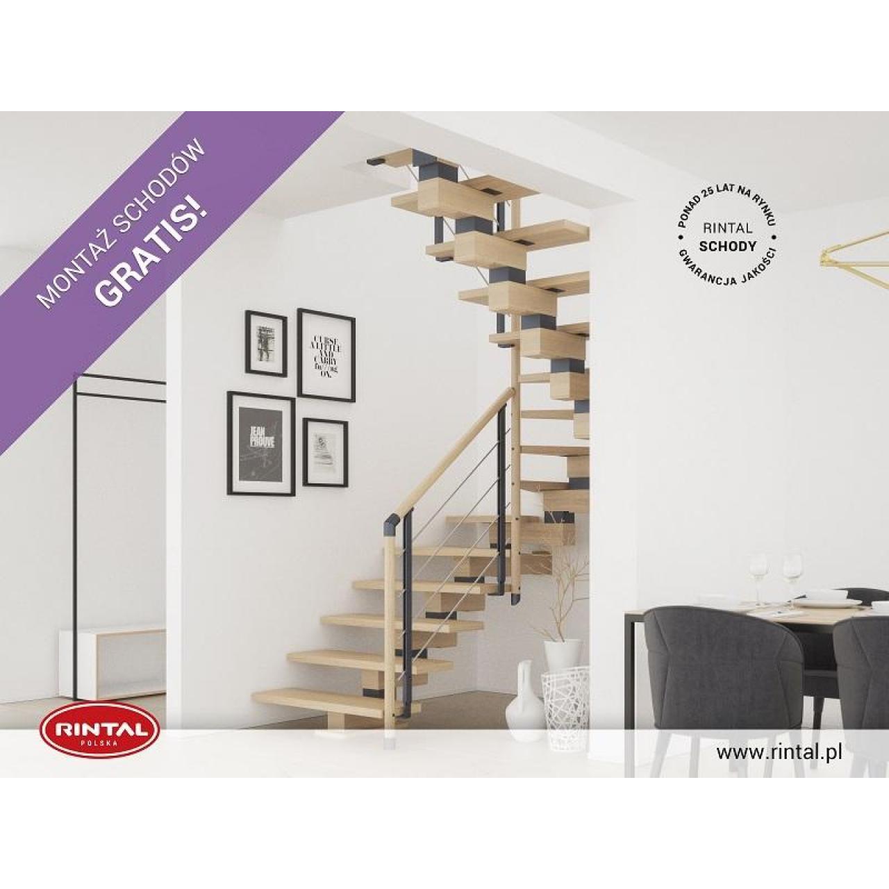 Schody Rintal we wrześniu montaż schodów gratis